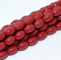50 Czech Rice Pearls 6 x 4 mm Dark Coral 48158